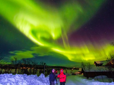 Watch the northern lights in Rovaniemi