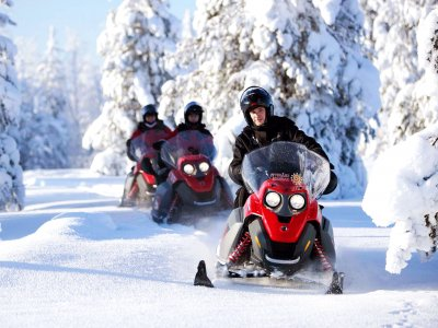 Take a snowmobile ride in Rovaniemi