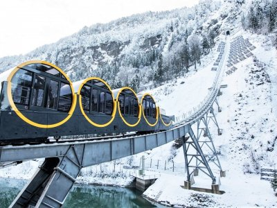 Take a world's fastest funicular ride in Schwyz