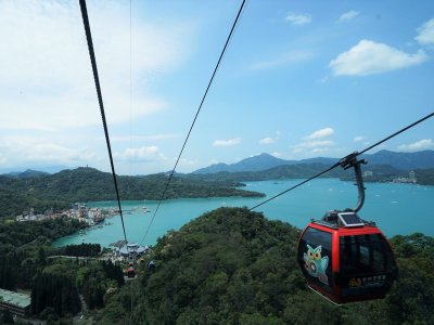 Take a cable car ride over the island's biggest lake in Taiwan