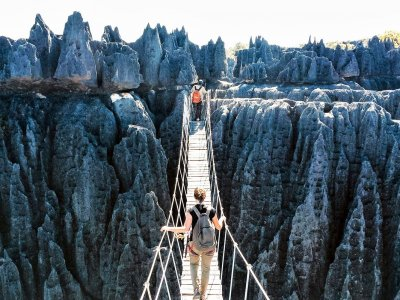 Walk through stone forest in Kunming
