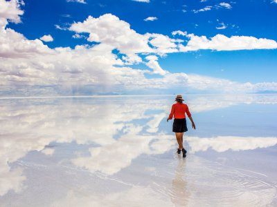 Walk on the world's biggest salt lake in Uyuni