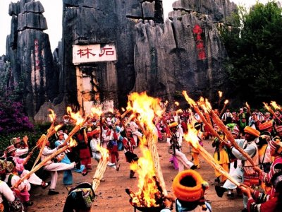 Visit the torches festival in Kunming
