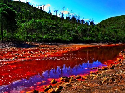 See Rio Tinto blood river in Seville