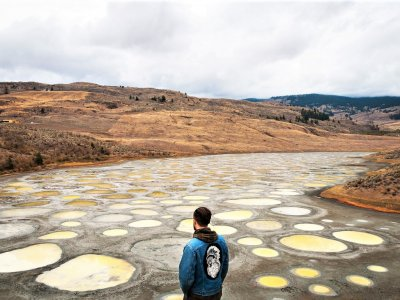 Walk on the spotted lake in Osoyoos