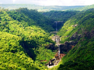 Climb the Tamarin Falls in Port Louis