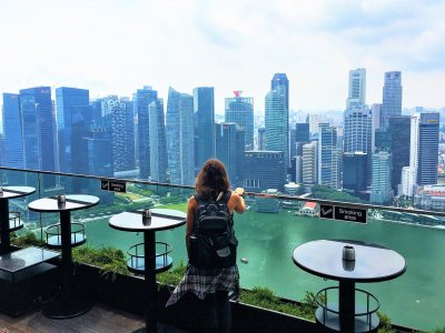 See the city from a 200-meter skyscraper in Singapore