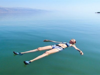 Float on the Dead Sea waves in Tel Aviv-Yafo