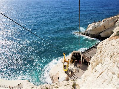 Go down to grottoes by the world's steepest cable-car way in Haifa