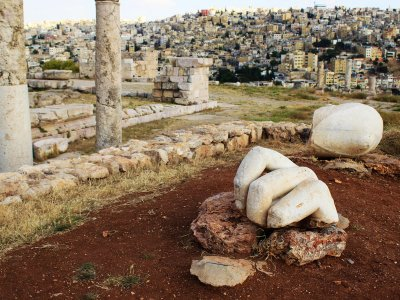 See the Hand of Hercules in Amman
