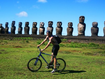 Take a bike ride around the Island on Easter Island
