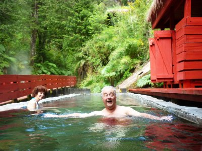 Take a bath in Termas Geometricas in Pucon