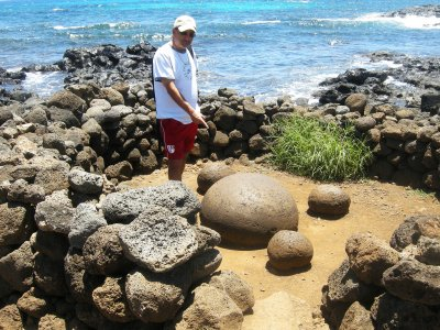 Find the Navel of the World on Easter Island
