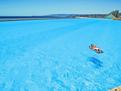 Swim in one of the world's largest pools in Algarrobo