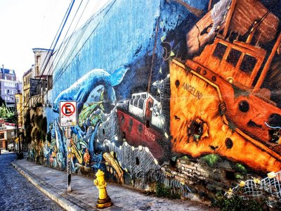 Immerse into street art in Valparaiso