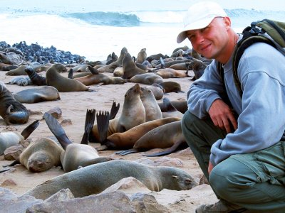 Watch fur seals in Swakopmund