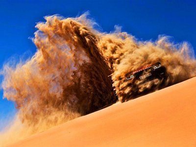 Go for a jeep ride over sand dunes in Dubai
