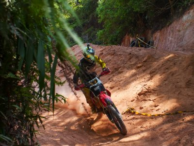 Ride a motor-cross in the jungle in Phuket
