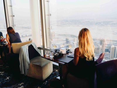 Dinner at 495-meter height in Dubai