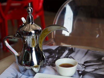 Try light Arabic coffee in Dubai