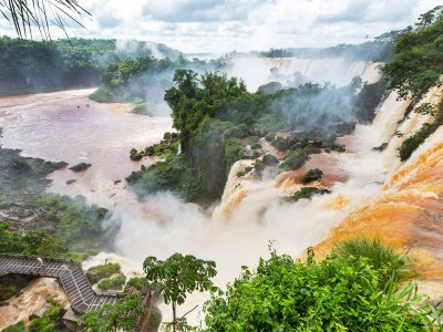 See the Iguacu Waterfalls from the helicopter in Rio de Janeiro