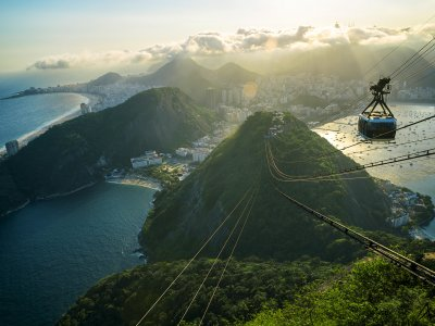 Climb the top of Sugarloaf by the cableway in Rio de Janeiro