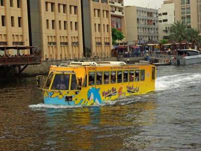 Ride a water bus in Dubai