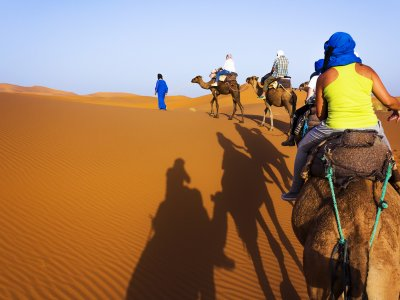 Ride a camel in the Sahara in Marrakesh