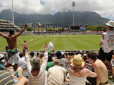 Watch a cricket game on a beautiful cricket ground in Cape Town