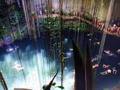 Take a swim in Cenote Ik Kil in Cancun