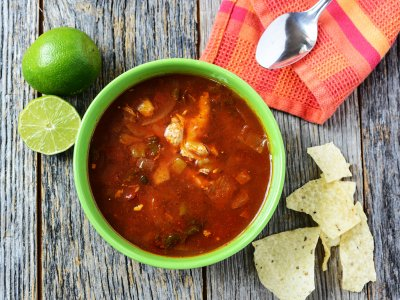 Taste tortilla soup in Mexico City