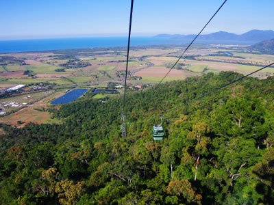 Take a ride on the cableway over the tropical forest in Cairns