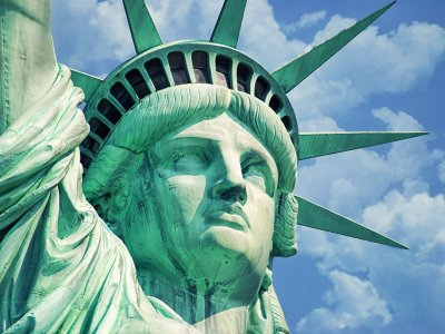 Get to the top of the Statue of Liberty in New York