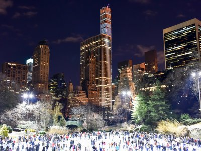 Skate on Wollman Rink in Central Park in New York