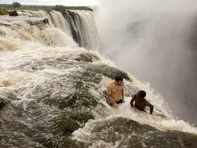 Swim on the edge of Victoria Falls in Livingstone