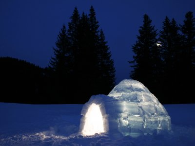 Build an igloo in Salzburg