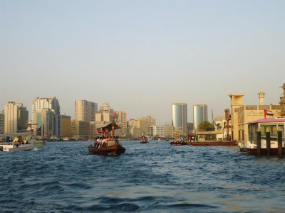 Take an abra boat in Dubai