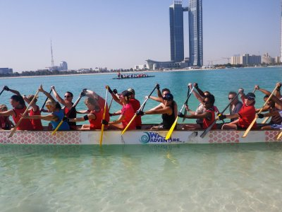 Try dragon boating in Abu Dhabi