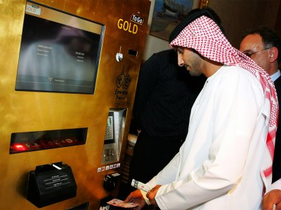 Get gold from an ATM in Abu Dhabi