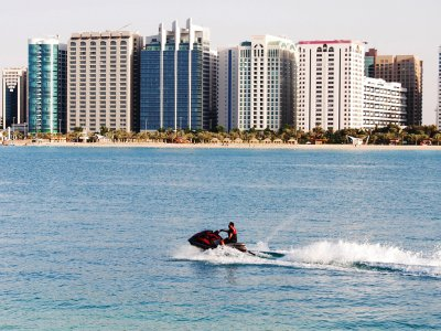 Jump over the waves on a jet ski in Abu Dhabi