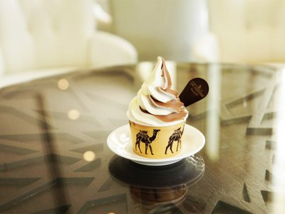 Try Emirati dessert - camel milk ice-cream in Dubai