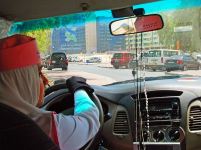 Take a women's taxi in Dubai