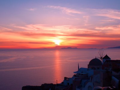 To see sunset on Santorini island on Santorini
