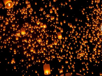 See thousands of sky lanterns at the Mae Jo event in Chiang Mai