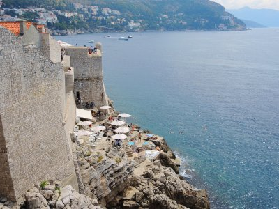 Visit a cafe on the cliff in Dubrovnik