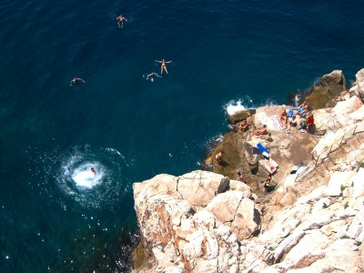 Try cliff jumping on Buza beach in Dubrovnik