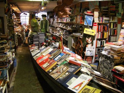 Visit the unusual Acqua Alta bookshop in Venice