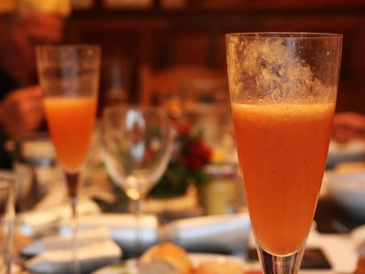 Try Bellini cocktail in Venice