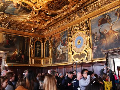 Take a walk through the Doge's Palace in Venice