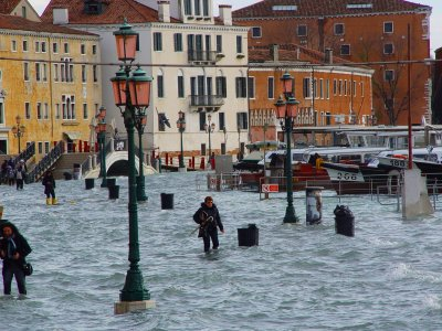 See the famous Acqua Alta flooding in Venice